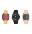 icons wrist watches vector image