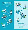 isometrics healthcare and innovative technologies vector image vector image