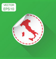 italy sticker map icon business concept italy vector image