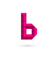 Letter B mosaic logo icon design template elements vector image vector image