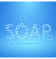 Lettering Soap of Floating Bubbles vector image vector image