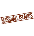 Marshall Islands brown square stamp vector image vector image