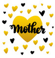 mother handwritten postcard vector image vector image