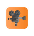 old camcorder flat icon vector image vector image