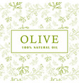 olive with leaves on white background seamless vector image vector image