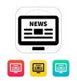 Online news Desktop PC newspaper icon vector image