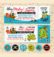 pirate birthday invitation treasure map vector image vector image
