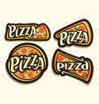 pizza set vector image