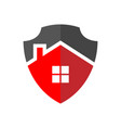 protection home logo the image house in vector image