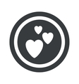 Round black love sign vector image vector image