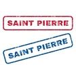 Saint Pierre Rubber Stamps vector image vector image