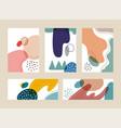 set advertising hand drawn organic shapes vector image vector image