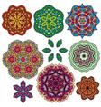 set color circle 3 380 vector image vector image