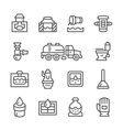 Set line icons of sewerage vector image vector image