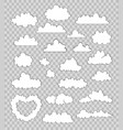 set of clouds on transparent background vector image vector image