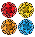set of sewing buttons red orange blue and yellow vector image vector image