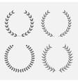 set of silhouette round laurel foliate wheat wreat vector image vector image