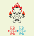 skull fire tribal vector image vector image