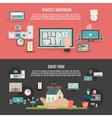 Smart home 2 flat banners poster vector image vector image