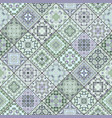 square decorative seamless patterns in ethnic vector image