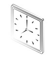 square wall clock icon image vector image vector image