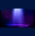 stage spot lighting magic light and particles vector image