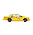 taxi yellow car vector image vector image