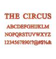 vintage carnival font vector image