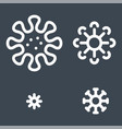 viruses set related thin line icon vector image vector image