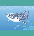 whale shark over a reef vector image