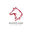 wolf logo template vector image vector image