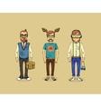 hipster men vector image