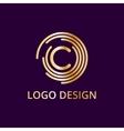 Stock logo letter c of gold vector image