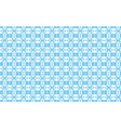 blue pattern of geometric shapes on a white vector image