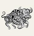 Bull ornament vector image