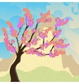 cherry blossoms sakura against a background of vector image
