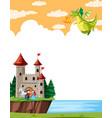 a fantasy land template vector image vector image