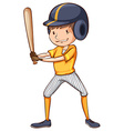 A simple sketch of a male baseball player vector image vector image