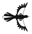 air fly magpie icon simple style vector image vector image