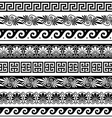 ancient greek pattern - seamless set vector image vector image