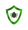 antivirus icon on white background vector image vector image