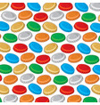 background pattern with bottle cap vector image vector image