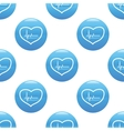 Beating heart sign pattern vector image vector image