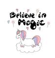 believe in magic vector image vector image