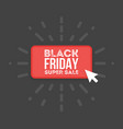 black friday sale commerce design mouse click vector image vector image