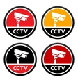 cctv pictogram set sign security camera vector image vector image