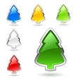 Christmas tree web buttons set vector image vector image