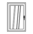 closed white window icon outline vector image vector image