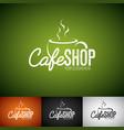 coffee logo design template set cofe shop vector image