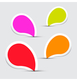Colorful Empty Stickers - Labels Set on Grey vector image vector image